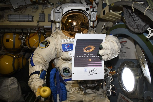 Alexei Ovchinin sends congratulations from the ISS WEB